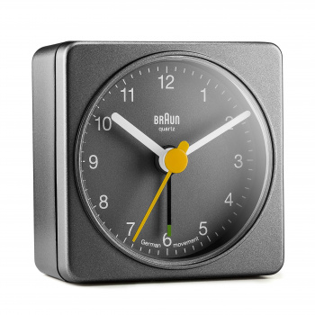 BRAUN BNC002 CLASSIC TRAVEL ALARM CLOCK/GREY