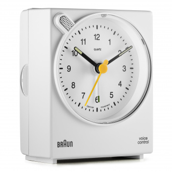 BRAUN BNC004 CLASSIC VOICE ACTIVATED ALARM CLOCK - WHITE