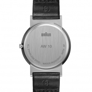 Hodinky BRAUN AW 10 CLASSIC WATCH WITH LEATHER STRAP