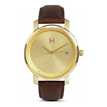 MVMT SIGNATURE SERIES - 38 MM GOLD/BROWN LEATHER