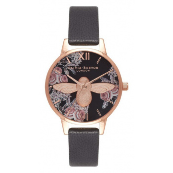 OLIVIA BURTON BOTANICAL 3D BEE BLACK OB16AM100