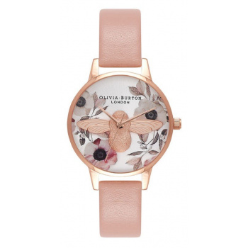 OLIVIA BURTON BOTANICAL 3D BEE DUSTY PINK OB16AM101