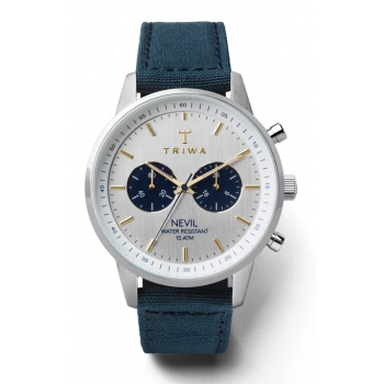 TRIWA LOCH NEVIL NAVY BLUE CHRONOGRAPH