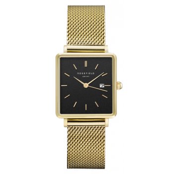 ROSEFIELD THE BOXY BLACK MESH GOLD / 33 MM