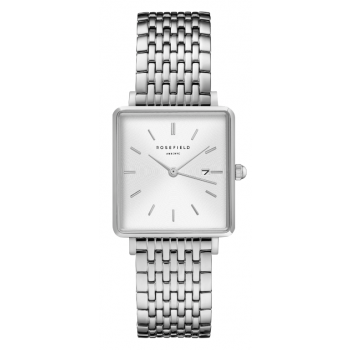 ROSEFIELD THE BOXY WHITE SUNRAY - SILVER / 33MM STAINLESS STEEL