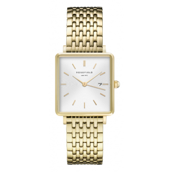 ROSEFIELD THE BOXY WHITE SUNRAY STEEL GOLD / 33 MM