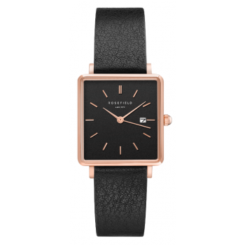 ROSEFIELD THE BOXY BLACK - BLACK / 33MM LEATHER