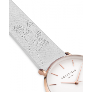 Hodinky ROSEFIELD CITY BLOOM LILY WHITE - ROSE GOLD / 33MM