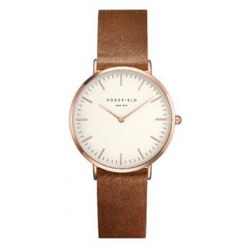 ROSEFIELD THE TRIBECA WHITE BROWN ROSEGOLD / 33 MM