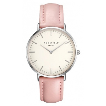 ROSEFIELD THE BOWERY SILVER WHITE - PINK / 38MM