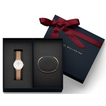 DANIEL WELLINGTON Gift Set- Classic Petite Melrose Rose Gold 28MM a Rose Gold Small