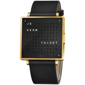 QLOCKTWO W35 - GOLD BLACK