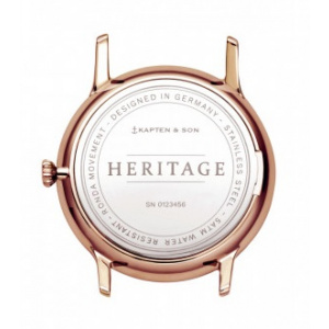 Hodinky KAPTEN and SON HERITAGE BLACK LEATHER