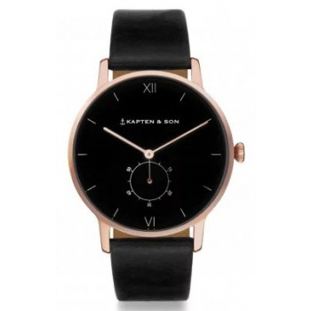 KAPTEN and SON HERITAGE ALL BLACK ROSE GOLD
