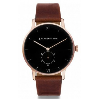 KAPTEN and SON HERITAGE BLACK BROWN LEATHER