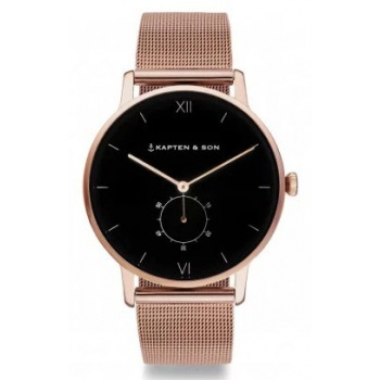 KAPTEN and SON HERITAGE BLACK MESH ROSE GOLD