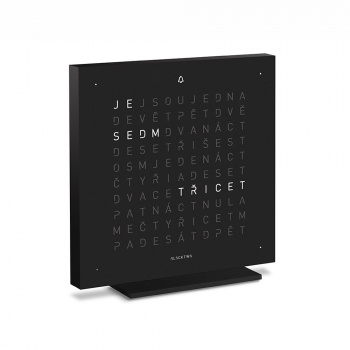 QLOCKTWO TOUCH DEEP BLACK