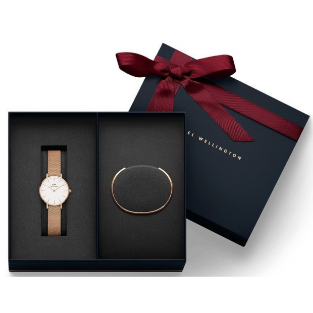 Hodinky DANIEL WELLINGTON Gift Set- Classic Petite Melrose Rose Gold 32MM a Rose Gold Small