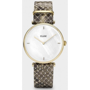 CLUSE Triomphe Gold White Pearl/Soft Almond Python CL61008