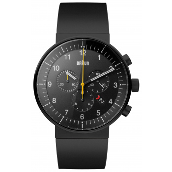 BRAUN GENTS BN0095 PRESTIGE CHRONOGRAPH WATCH WITH RUBBER STRAP