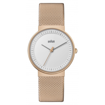 BRAUN LADIES BN0031 CLASSIC WATCH WITH MESH BRACELET