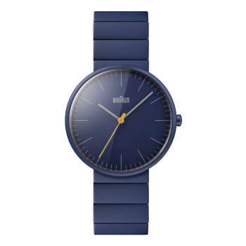 BRAUN UNISEX BN0171 CLASSIC WATCH WITH CERAMIC BRACELET/BLUE