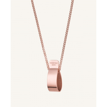 ROSEFIELD FOLDED CHARM NECKLACE ROSE GOLD