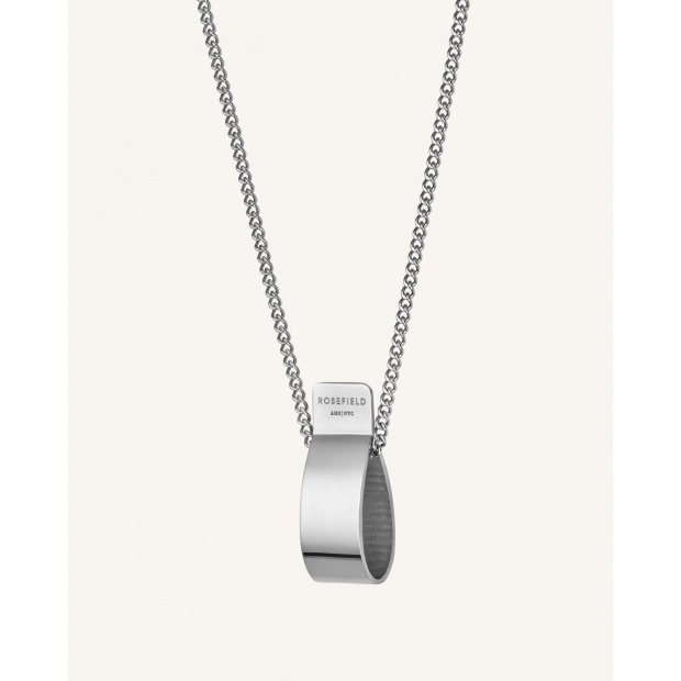 ROSEFIELD FOLDED CHARM NECKLACE SILVER