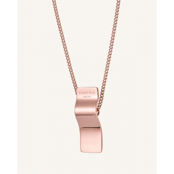 ROSEFIELD WAVE CHARM NECKLACE ROSE GOLD