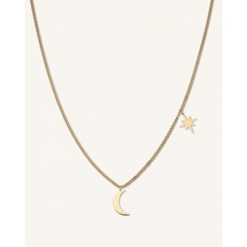 ROSEFIELD MOON AND STAR NECLACE GOLD