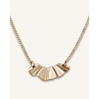 ROSEFIELD LIQUID WAVED NECKLACE GOLD