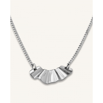 ROSEFIELD LIQUID WAVED NECKLACE SILVER