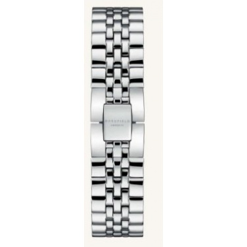 ROSEFIELD THE ACE STRAP STEEL SILVER/ 38 MM