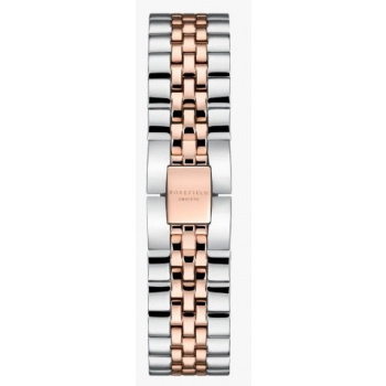 ROSEFIELD THE ACE STRAP STEEL SILVER ROSE GOLD DUO / 38 MM