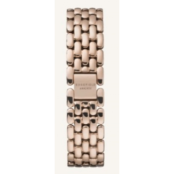 ROSEFIELD THE GABBY STRAPS STEEL ROSE GOLD / 33 MM