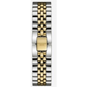 ROSEFIELD THE BOXY STRAP STEEL SILVER GOLD DUO / 33 MM
