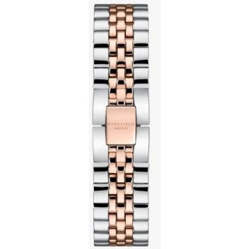 ROSEFIELD THE BOXY STRAP STEEL SILVER ROSE GOLD DUO / 33 MM