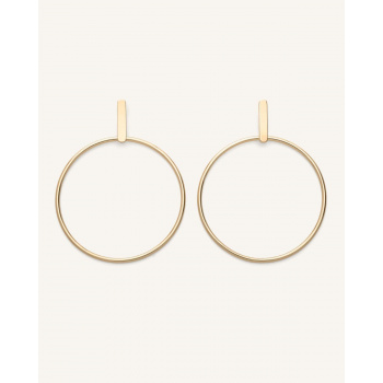 ROSEFIELD HOOP BAR EARRING GOLD