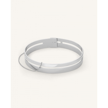 ROSEFIELD DOBLE BAR BANGLE SILVER
