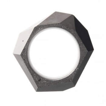 22 DESIGN STUDIO Rock Ring Dark Grey