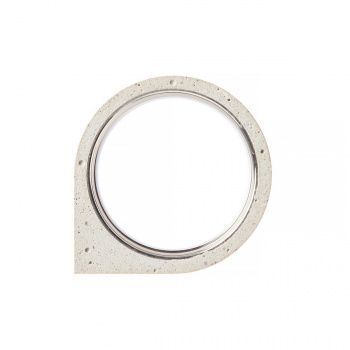 22 DESIGN STUDIO Corner Ring THIN White