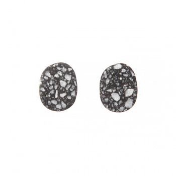 22 DESIGN STUDIO Pebble Earring Dark Grey