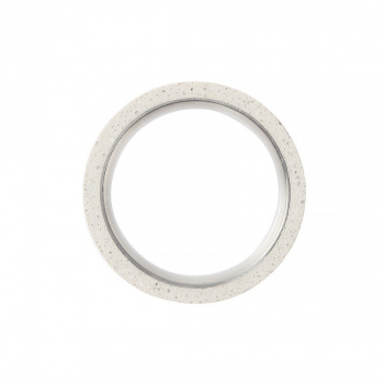 22 DESIGN STUDIO Tube Ring White