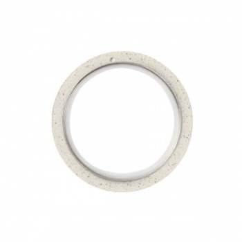 22 DESIGN STUDIO Tube Ring THIN White