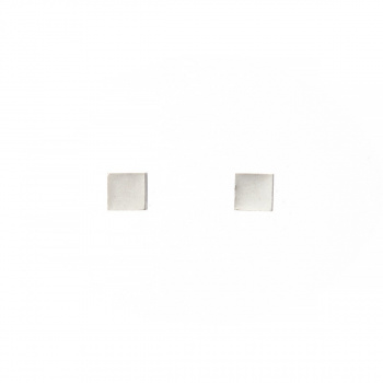 22 DESIGN STUDIO Cube Earring White