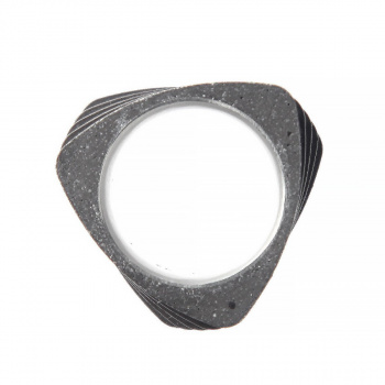22 DESIGN STUDIO Twist Ring Dark Grey