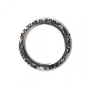 22 DESIGN STUDIO Bare Ring Dark Grey