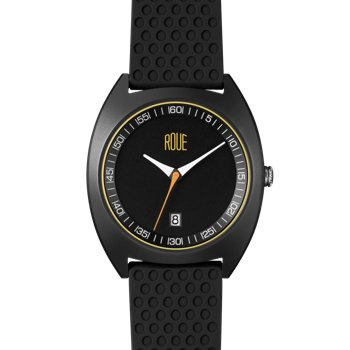 ROUE CAL THREE BLACK CASE BLACK AND WHITE DIAL