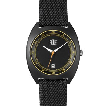 ROUE CAL TWO BLACK CASE BLACK AND YELLOW DIAL