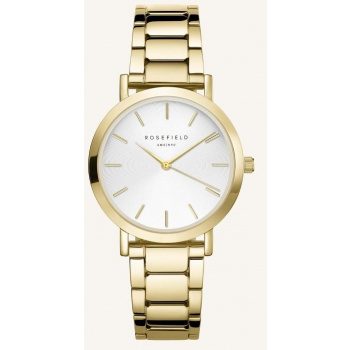 ROSEFIELD THE TRIBECA WHITE SUNRAY STEEL GOLD 33MM